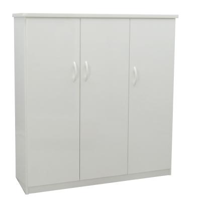 品家居 卡布3.2尺環保塑鋼三門鞋櫃(五色可選)-97x33.5x117cm-免組