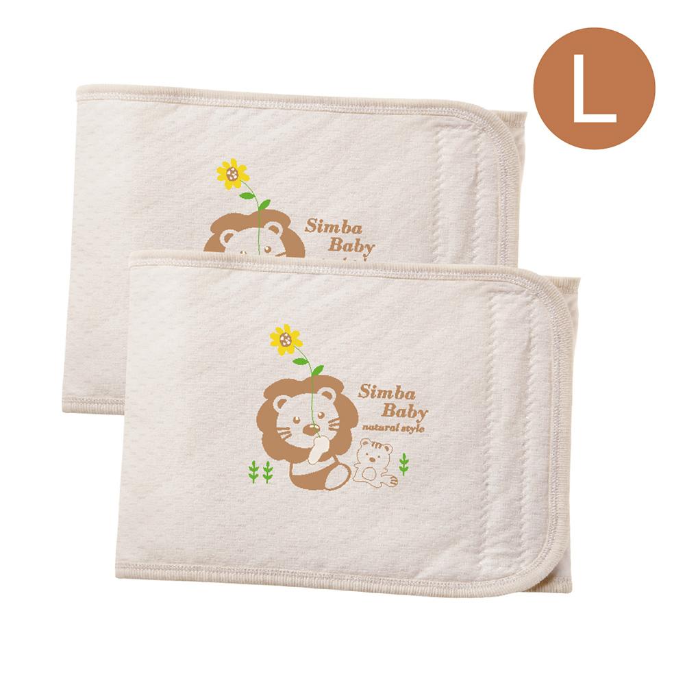 【滿額贈】小獅王辛巴 大地系有機棉嬰兒肚圍-L2入(25X73cm)