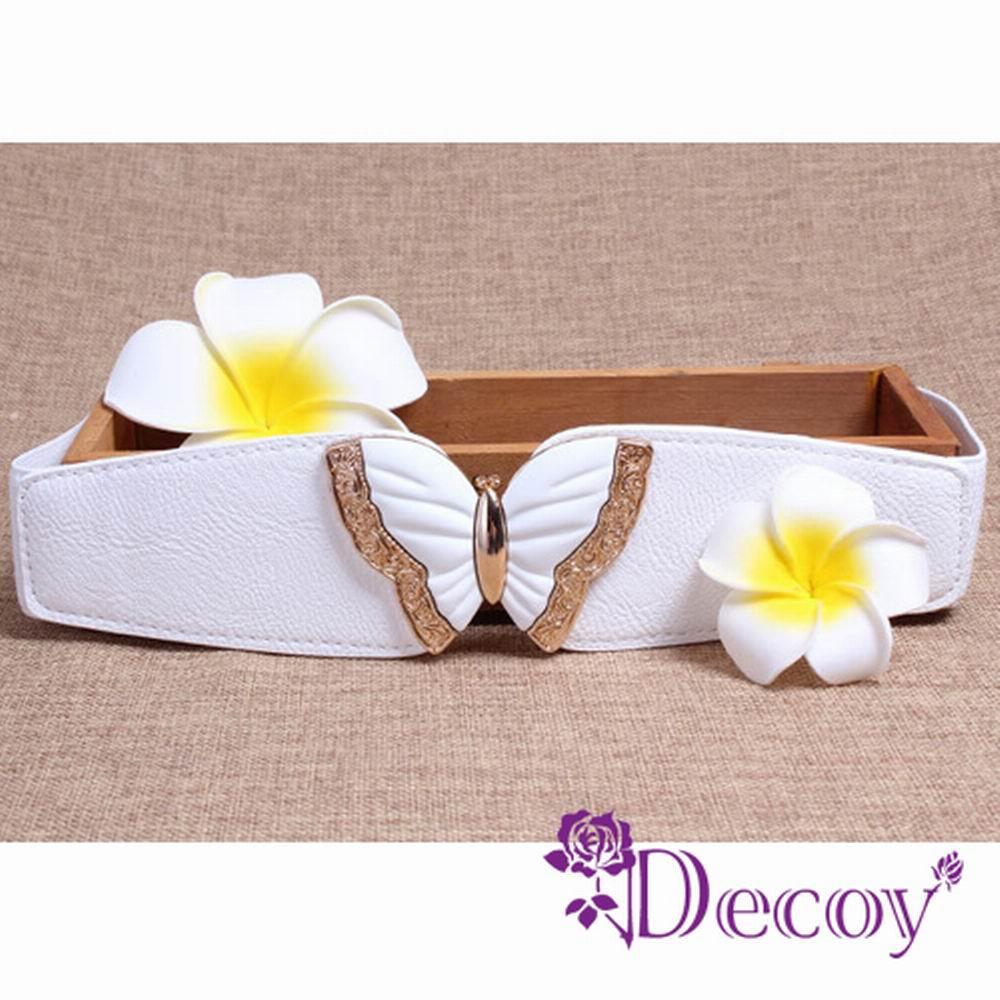 Decoy 蝶戀之夏 立體弧形彈性腰封 三色可選
