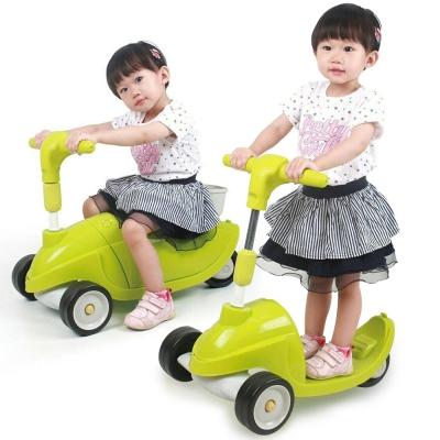 寶貝樂精選 伴你行滑板車加學步車-綠色