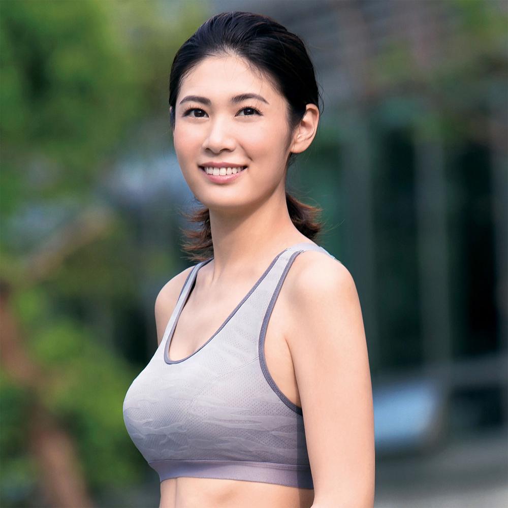 華歌爾TRAINING 系列五星有氧  A-B 罩杯運動胸罩 (活力灰)