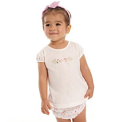 愛的世界 MYBABY 彈性小蝴蝶兩件式包屁衣套裝/6M~2歲