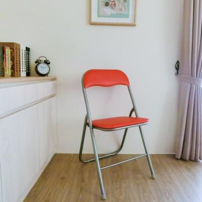 Amos-烤漆素面折疊椅(2入)