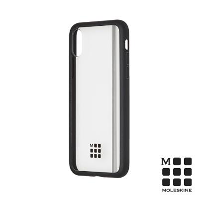 MOLESKINE iPhone X 經典透明保護殼-黑