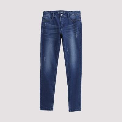 Hang Ten - 女裝 - 仿舊刷色直筒牛仔褲 - 淺藍