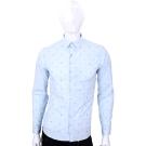 KENZO水藍色符號刺繡長袖襯衫
