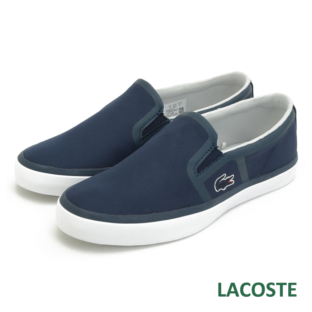 LACOSTE 女用休閒鞋/懶人鞋-藍色