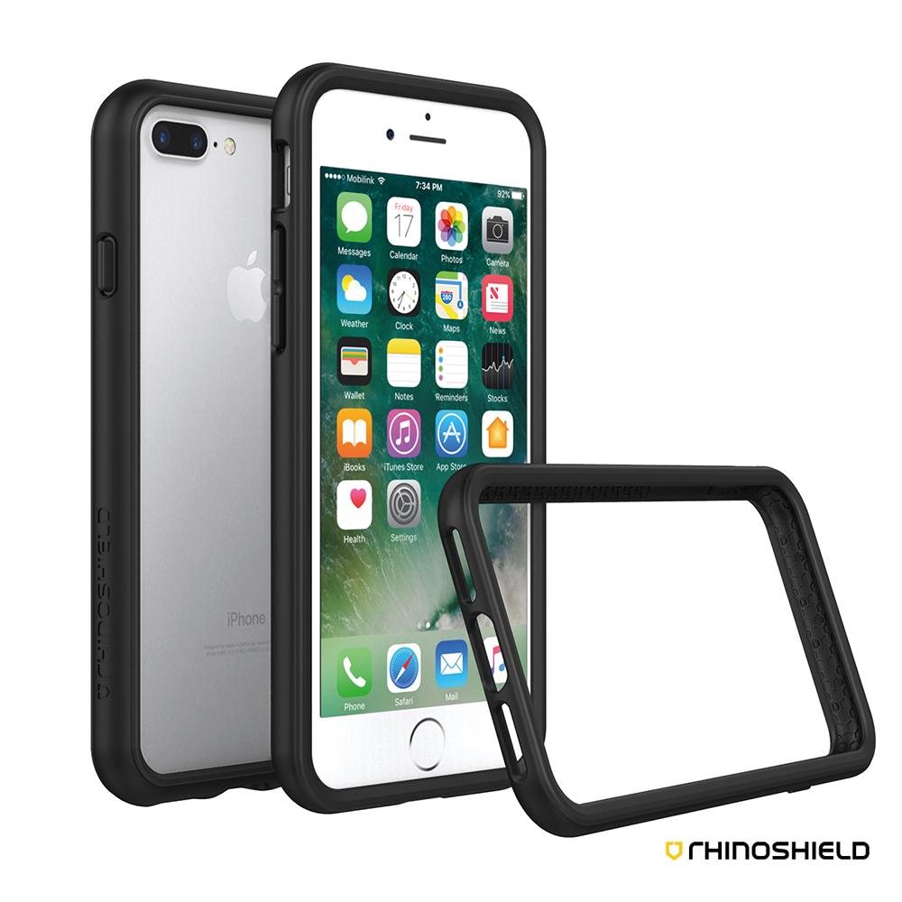 犀牛盾 iPhone 7 Plus (5.5吋) CrashGuard 防摔邊框殼-黑色
