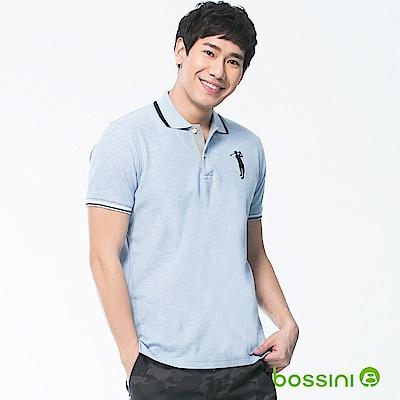 bossini男裝-短袖經典POLO衫04藍