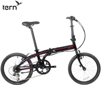 Tern-Link-B7-鋁合金20吋7速折疊單車-黑底紅標