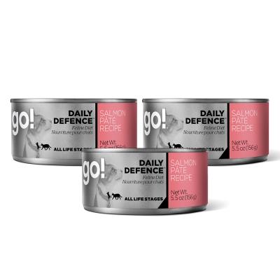 Go! 天然主食貓罐-豐醬系列-野生鮭魚-24件組