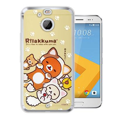 日本授權正版 拉拉熊 HTC 10 evo 5.5吋 變裝系列彩繪手機殼(狐狸黃...