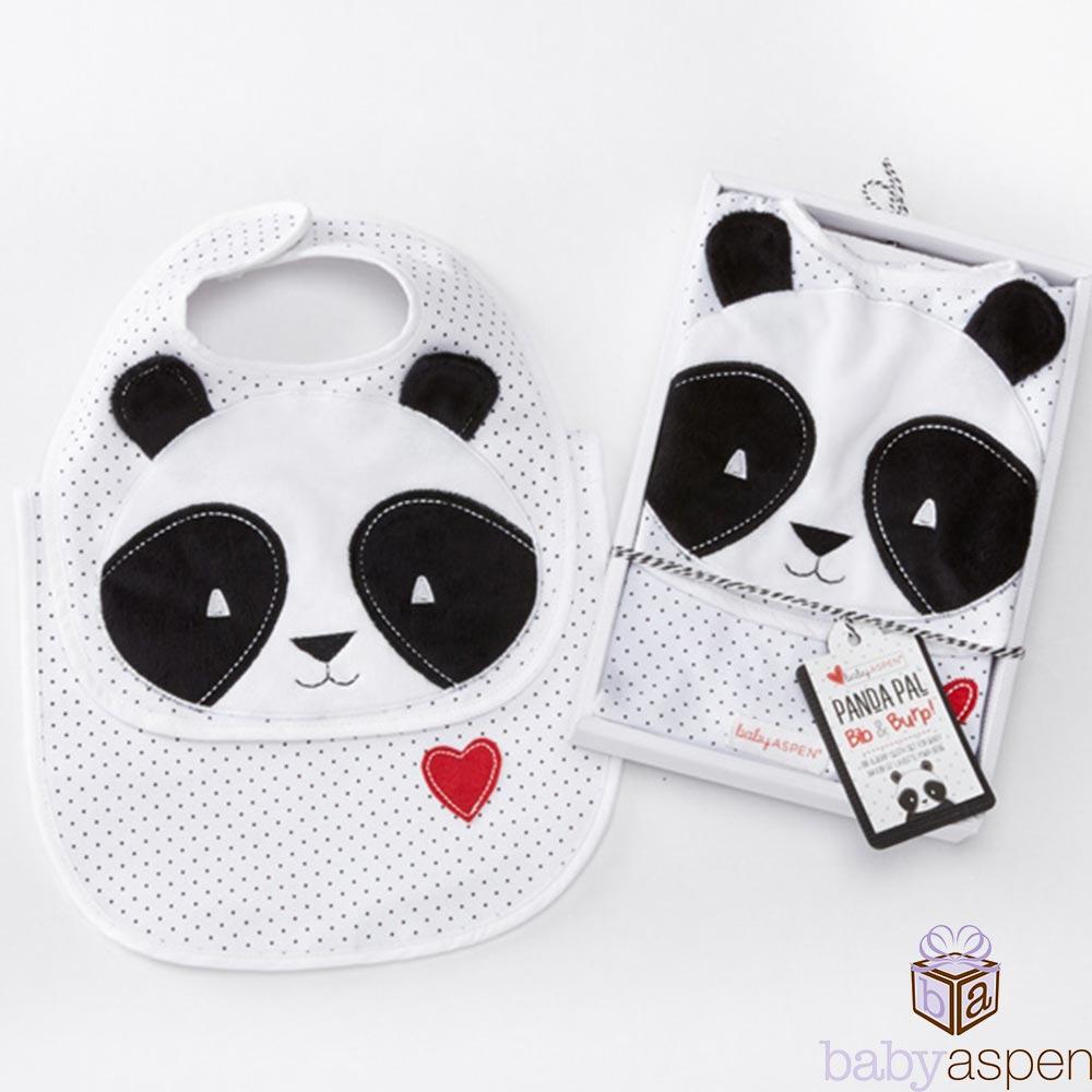 Baby Aspen 小熊貓圍兜二件組