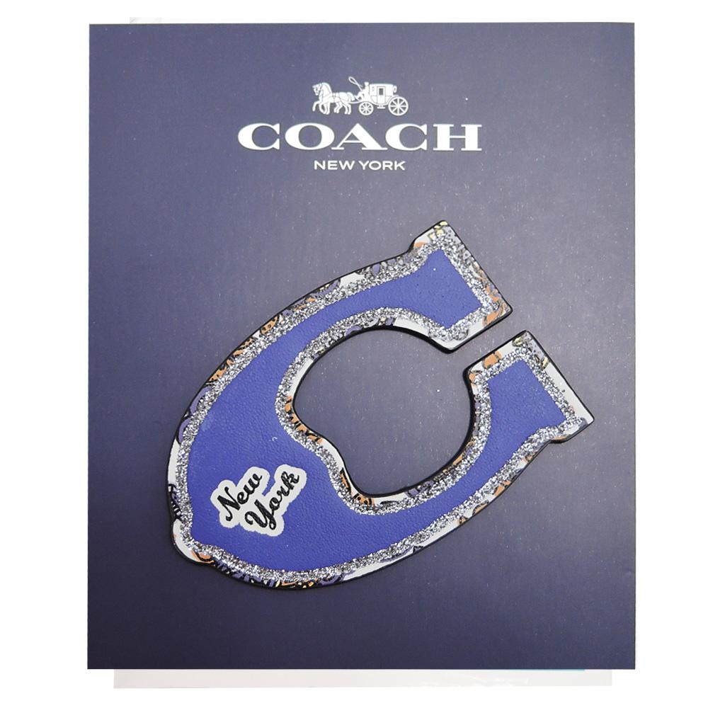 COACH 英文字母C貼紙(靛藍)
