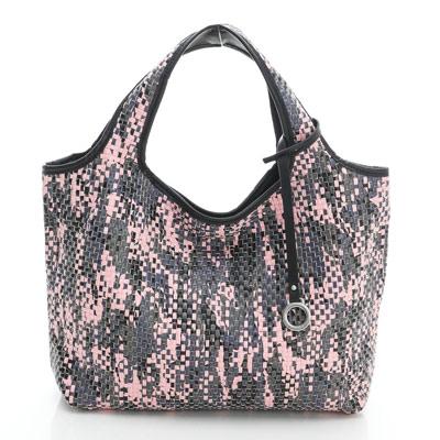 YUCCA - 國際潮流配色手工編織包-粉紅色- D0118025C85
