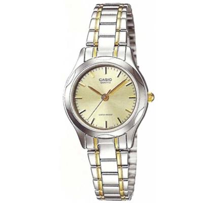 CASIO 時尚輝煌指針淑女錶(LTP-1275SG-9A)-香檳金