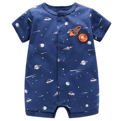 Carters 美國 深藍火箭短袖包屁衣連身衣