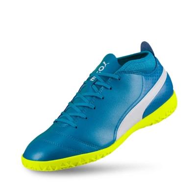 PUMA-PUMA ONE 17.4 IT男性足球運動鞋-原子藍