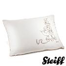 STEIFF德國金耳釦泰迪熊 - 嬰幼兒 枕頭 駝色x白色 40x30cm