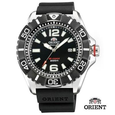 ORIENT 東方錶 M-FORCE系列 鈦金屬200m潛水機械錶-黑色/47mm