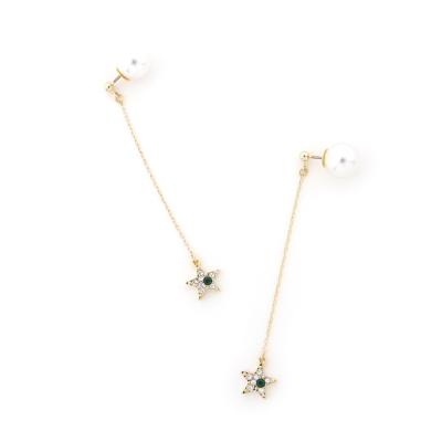 ANRI×JewCas 梅谷安里設計款-施華洛施奇星星耳環