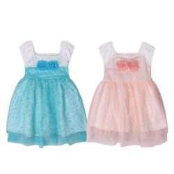 baby童衣 嬰兒洋裝 無袖玫瑰花造型 52353