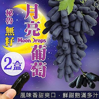 天天果園*秘魯無籽月亮葡萄(每盒500g±10%) x2盒