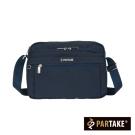 PARTAKE-都會休閒生活系列-多隔層側背包-藍-PT16-B2-65NY