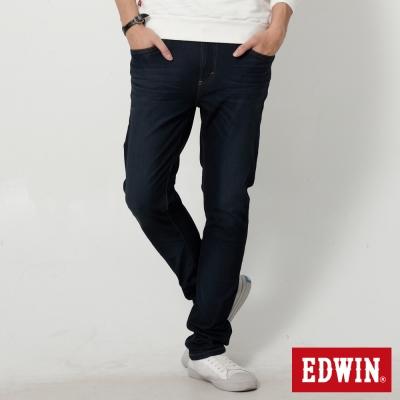 EDWIN 加大迦績褲 JERSEYS漸層袋花直筒牛仔褲-男-原藍磨
