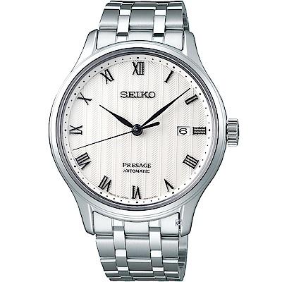 SEIKO精工Presage沉穩風格羅馬機械腕錶(4R35-02S0S)-41mm
