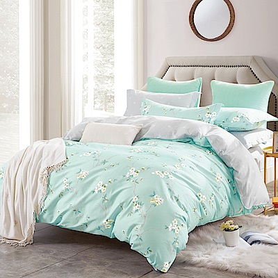 美夢元素 台製-精梳棉-涼被床包組-清秀花影(單人)