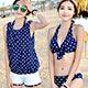 泳衣-盛夏夢想-四件式鋼圈比基尼泳衣-藍M-XL