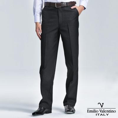 Emilio Valentino 范倫提諾仿牛仔休閒褲-細格黑