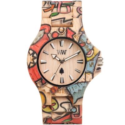 WEWOOD 義大利木頭錶設計款 DATE WOOP LOVE BEIGE-楓木/45mm