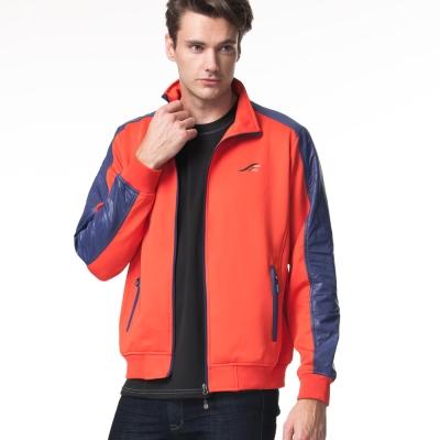 聖手牌 外套 條紋背飾運動休閒夾克外套(紅)