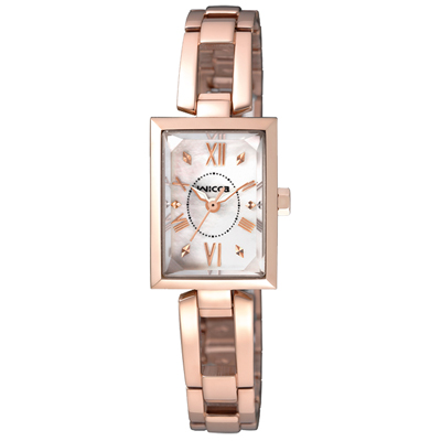CITIZEN WICCA 傾訴愛戀氣質時尚腕錶(BE1-020-11)-玫瑰金/18mm