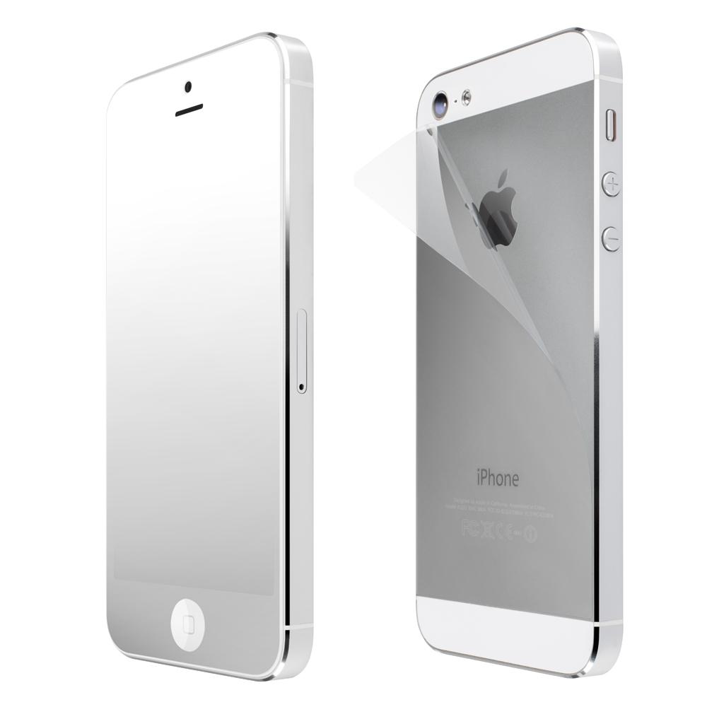 SwitchEasy Pure Mirror iPhone5/5S 魔鏡螢幕貼+透明機背貼