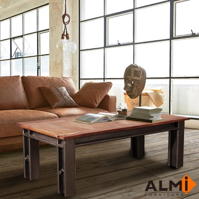 ALMI-TABLE BASSE 工業風大茶几W120*D60*H40CM