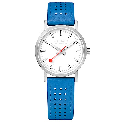 MONDAINE 瑞士國鐵Classic經典系列腕錶-30mm/天空藍