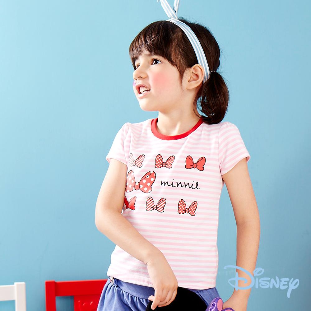 Disney米妮蝴蝶結甜美上衣 粉紅色