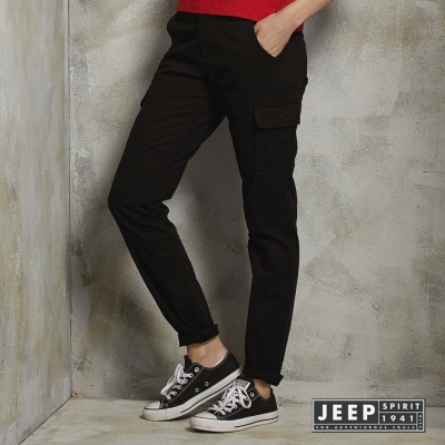 JEEP-女裝率性休閒工作褲-黑色