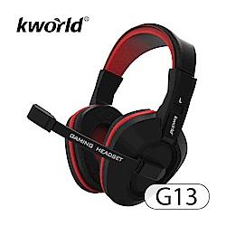 KWorld 廣寰 頭戴電競耳麥 G13《黑紅》