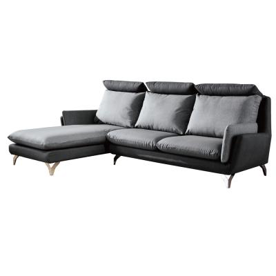 品家居 布魯耐磨皮革L型沙發(左右可選)-284x180x106cm-免組