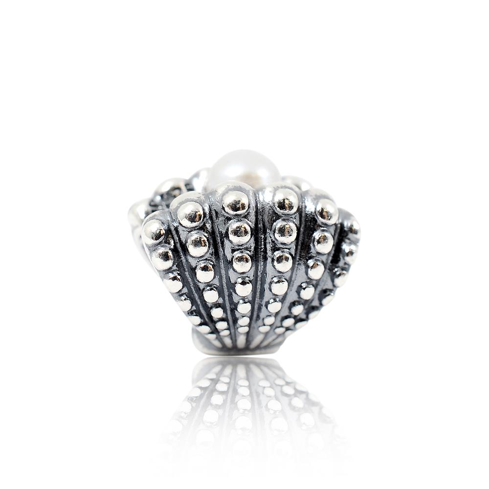 Pandora 潘朵拉 珍珠貝殼 純銀墜飾 串珠