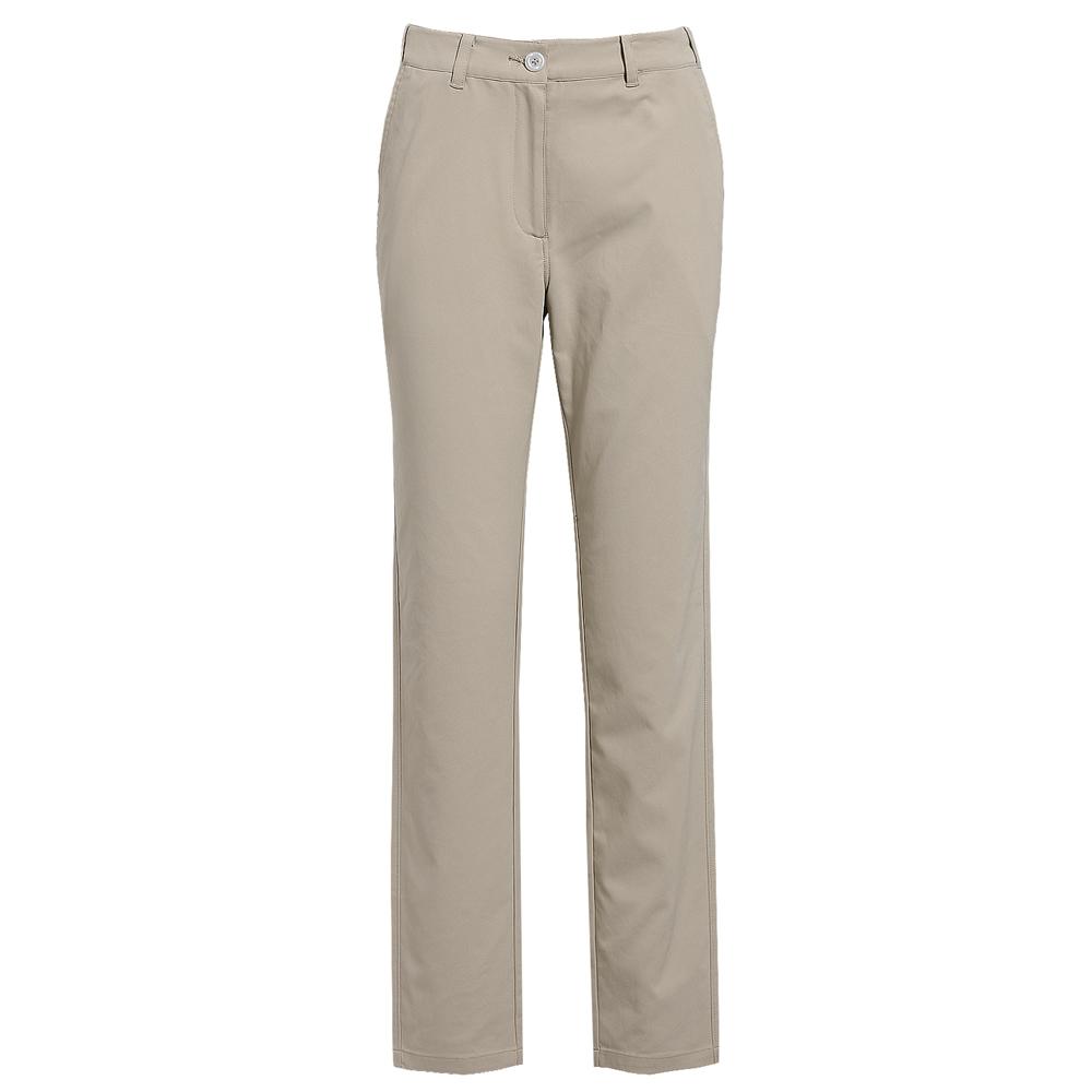 【hilltop山頂鳥】女款抗UV彈性合身版長褲S07FB1-卡其