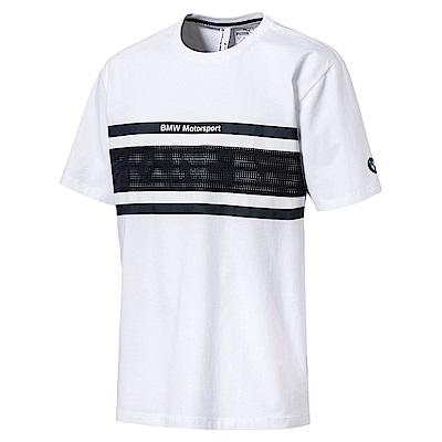 PUMA-男性BMW系列長版短袖T恤-白色-歐規