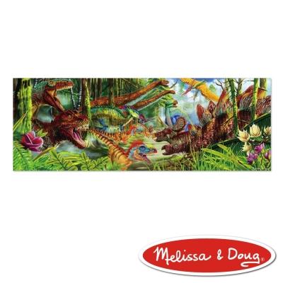 美國瑪莉莎 Melissa & Doug 大型地板拼圖 - 恐龍世界 , 200 片