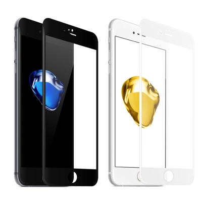 【SHOWHAN】全覆蓋iPhone 7 Plus 高清亮面9H鋼化玻璃保護貼