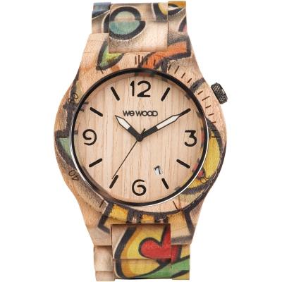 WEWOOD 義大利木頭錶設計款 ALPHA WOOP EYES BEIGE-45mm