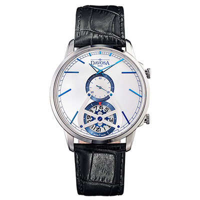 DAVOSA Cuore? COLLECTIO –經典雙??GMT系列腕錶-白面/42mm